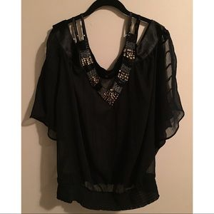MXM Beautiful Top with Gold Beading